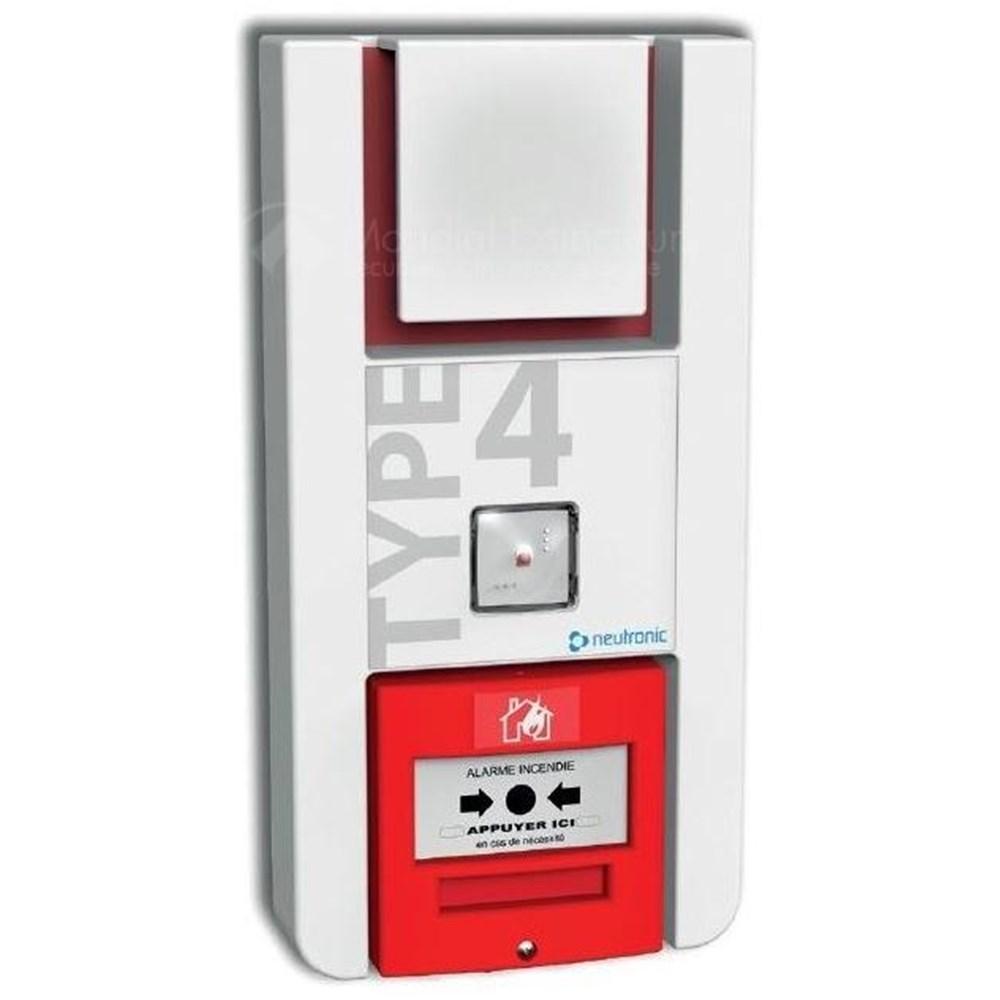 alarme type 4 pile avec led int gr e. Black Bedroom Furniture Sets. Home Design Ideas