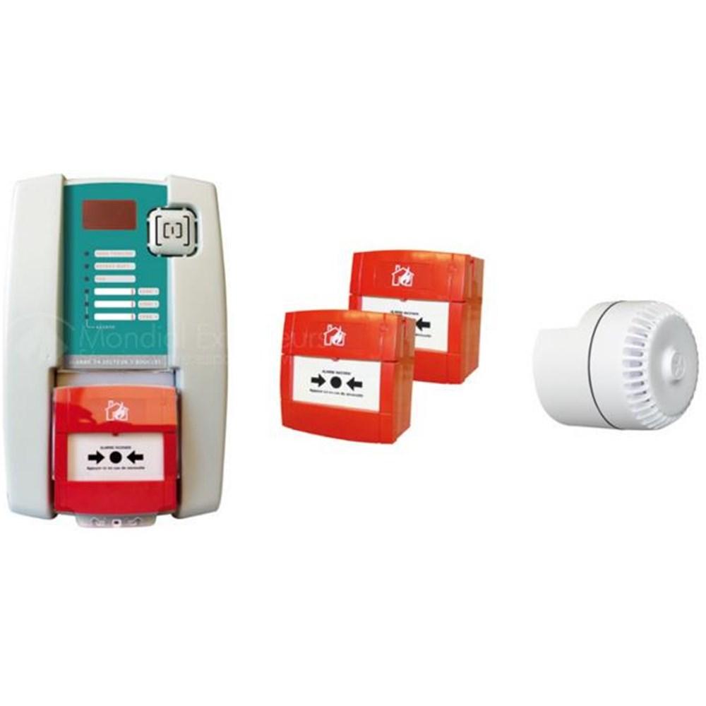 Kit alarme type 4 avec sirène intégrée, 2 déclencheurs et ...