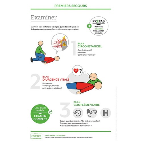 Support formation – Premiers secours : examiner