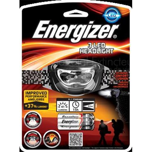 Lampe frontale energizer 3 leds