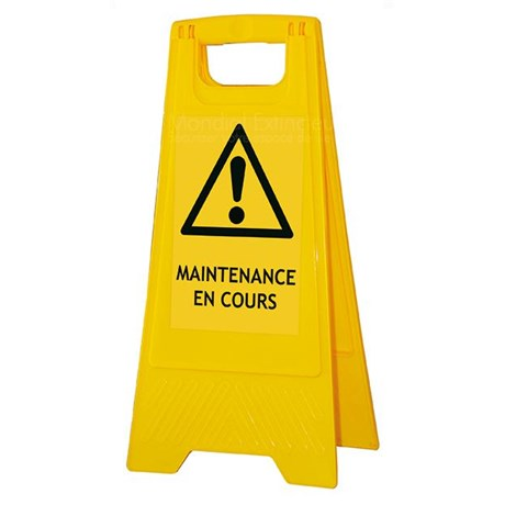 "Chevalet ""MAINTENANCE EN COURS"""