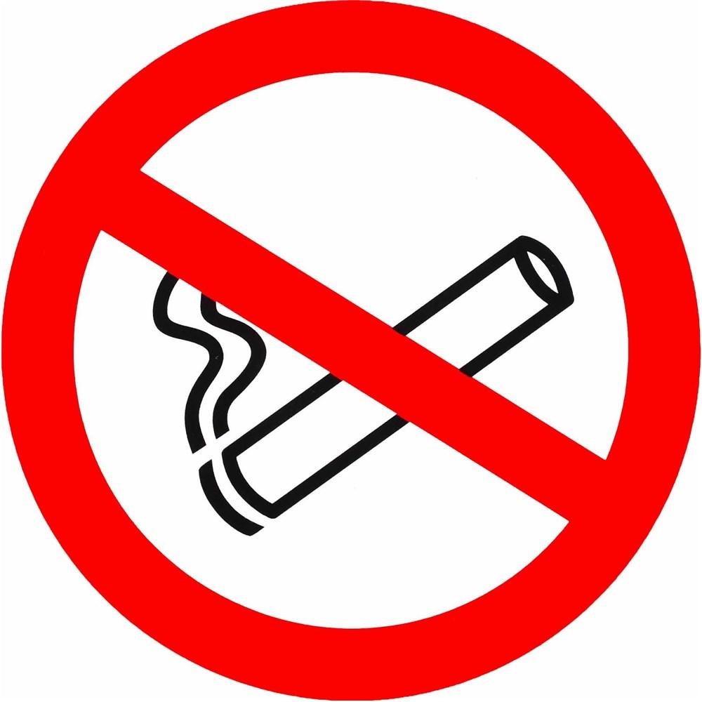 panneau pvc rond s curit du travail interdiction de fumer. Black Bedroom Furniture Sets. Home Design Ideas