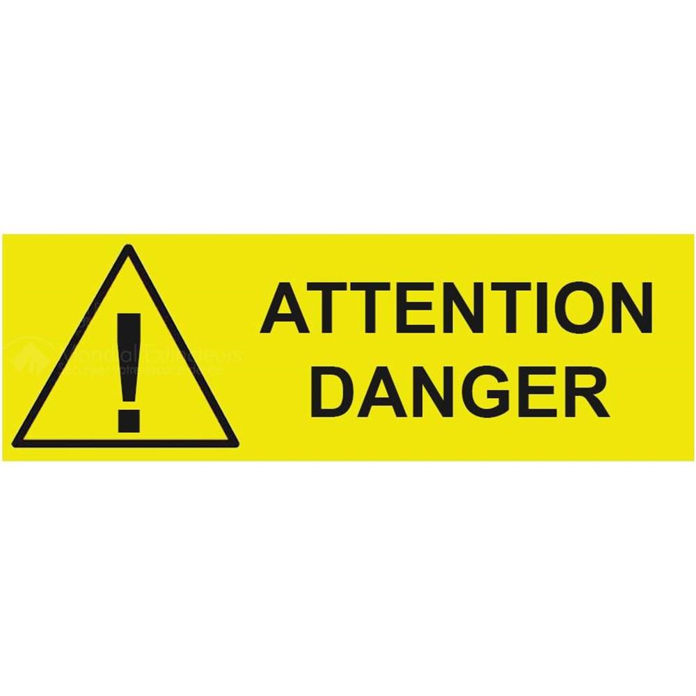 panneau attention danger x mm. Black Bedroom Furniture Sets. Home Design Ideas