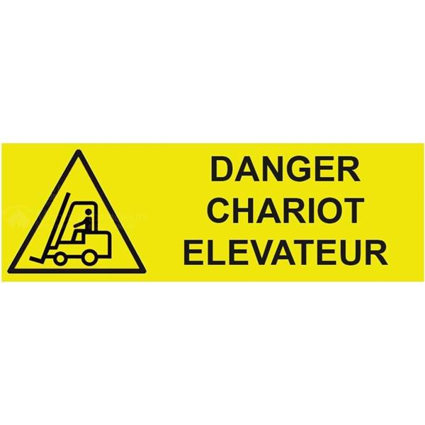 panneau danger chariot l vateur x mm. Black Bedroom Furniture Sets. Home Design Ideas