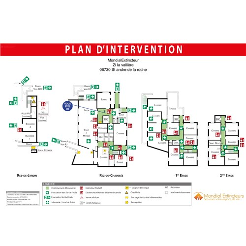 Plan d'intervention - PVC - Format A3